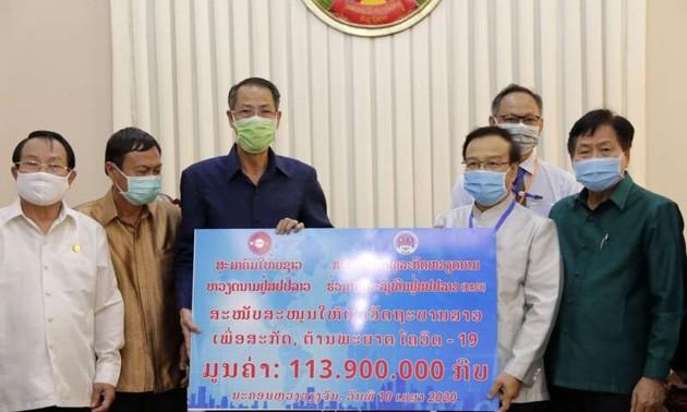 Cộng đồng người Việt chung tay chống dịch bệnh cùng Chính phủ và nhân dân Lào