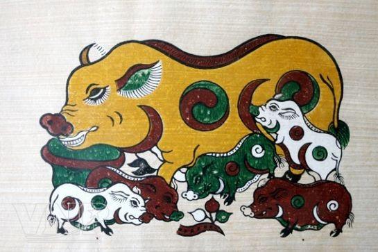 Весенняя красота в народных лубках Донгхо