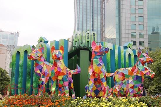 В Хошимине открылась цветочная улица по случаю Нового года Земляной Собаки