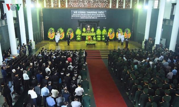Во Вьетнаме прошла церемония прощания с генерал-лейтенантом Донг Ши Нгуеном
