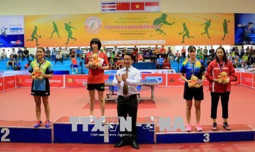 Clôture du 3e tournoi international de tennis de table Vinh Long 2018