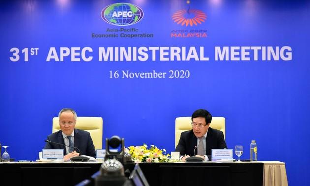 Le Vietnam soutient l'adoption de la Déclaration des dirigeants de l'APEC sur la Vision post-2020