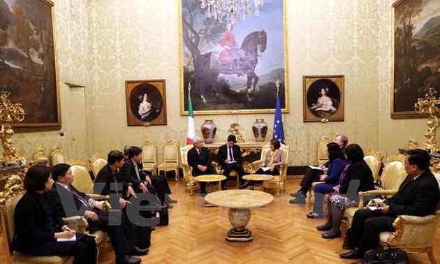 Tăng cường quan hệ hữu nghị, đối ngoại và lập pháp giữa Việt Nam và Italy