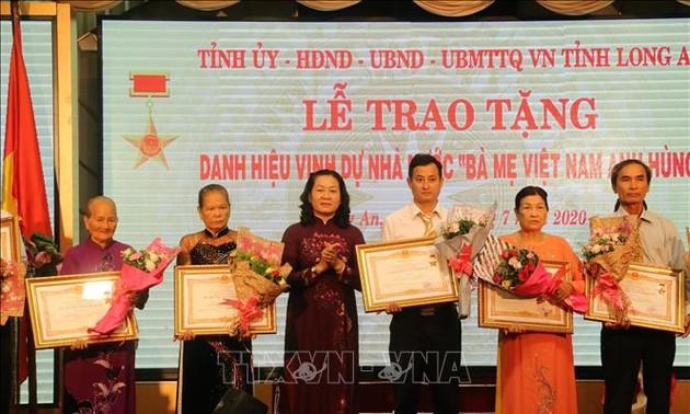 Long An trao tặng, truy tặng danh hiệu Bà mẹ Việt Nam anh hùng