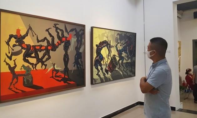Triển lãm mỹ thuật của nhóm họa sỹ X.O.M: Lan tỏa năng lượng tích cực trong xã hội