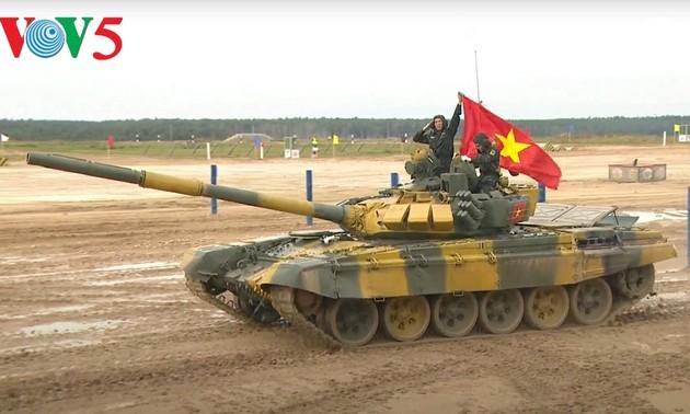 Đội tuyển xe tăng Việt Nam về đích đầu tiên trong ngày ra quân tại Army Games