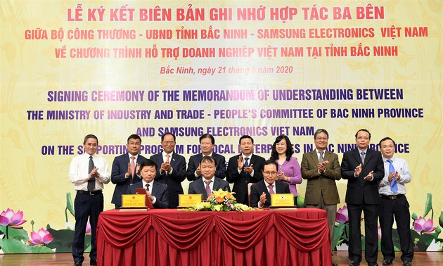 Ký kết chương trình hỗ trợ doanh nghiệp Việt Nam tại Bắc Ninh