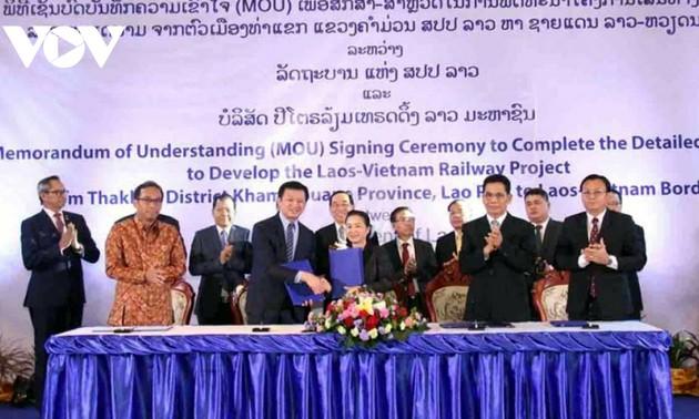 Đẩy mạnh triển khai dự án đường sắt Thakhek-Vũng Áng