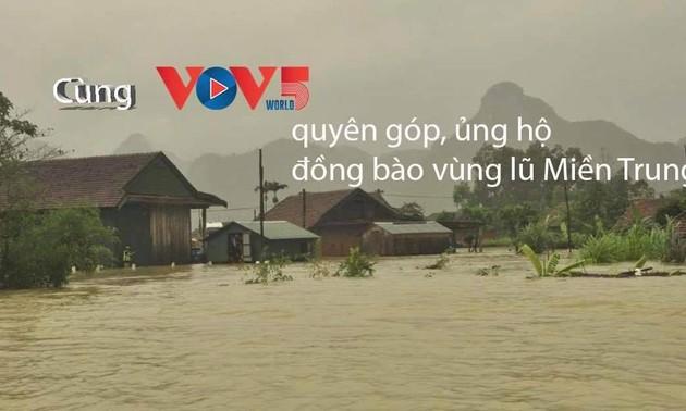 VOV5 kêu gọi ủng hộ, hỗ trợ đồng bào miền Trung bị lũ lụt