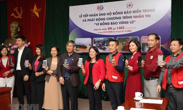 Trung ương Hội Chữ thập đỏ Việt Nam phát động nhắn tin ủng hộ đồng bào vùng lũ
