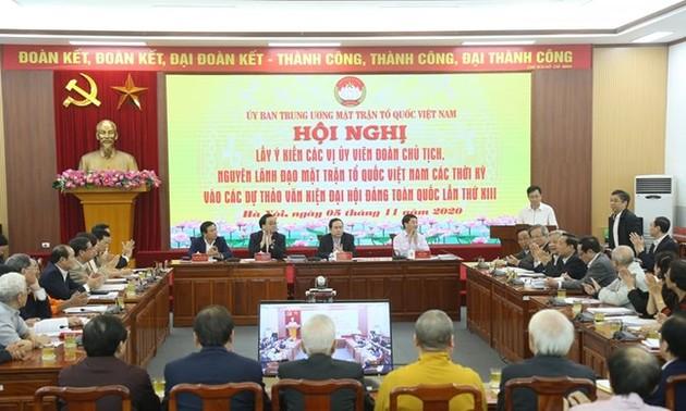 Ủy ban Trung ương MTTQ Việt Nam góp ý dự thảo Văn kiện Đại hội 13