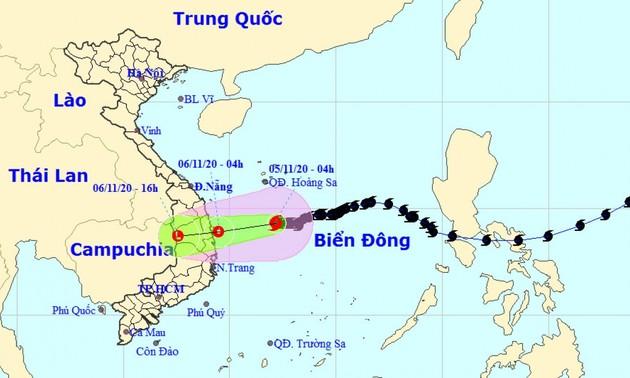 Bão Goni sẽ suy yếu thành áp thấp nhiệt đới trên vùng biển Quảng Ngãi - Phú Yên
