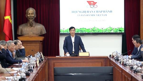 Ủy ban Olympic quyết tâm cùng toàn ngành Thể dục thể thao Việt Nam vượt khó