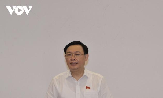 Chủ tịch Quốc hội Vương Đình Huệ làm việc với Ban Dân nguyện