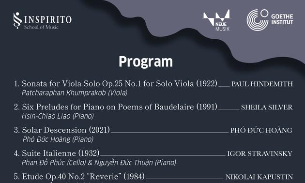 Buổi hòa nhạc thứ 3 chương trình Âm nhạc thế kỷ 20