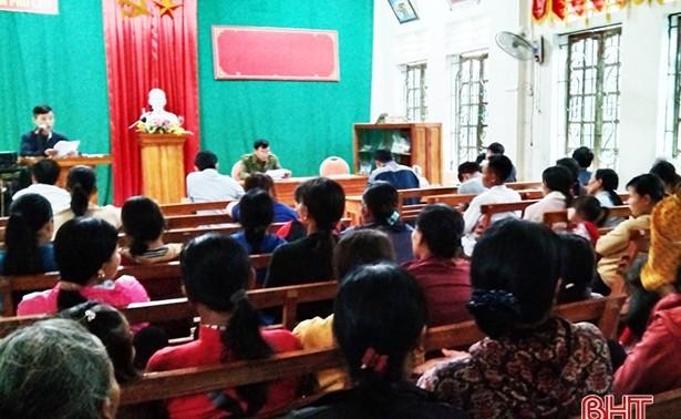 Đồng bào công giáo Hà Tĩnh hướng về ngày bầu cử