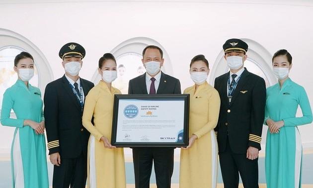 Vietnam Airlines đạt chứng chỉ 5 sao cao nhất về an toàn phòng chống dịch COVID-19