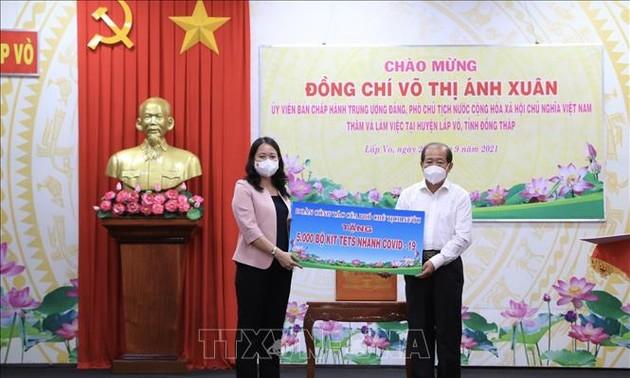 Phó Chủ tịch nước Võ Thị Ánh Xuân làm việc tại tỉnh Đồng Tháp