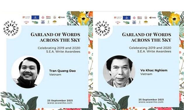 นักเขียนเวียดนาม 2 คนได้รับรางวัลวรรณกรรมสร้างสรรค์ยอดเยี่ยมแห่งอาเซียน