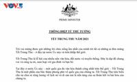 Australiens Premierminister schickt eine Glückwunschbotschaft zum Mittherbstfest auf Vietnamesisch