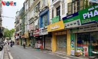 코로나19로 하노이 옛거리 다수 가게 폐쇄