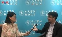 中国学者王文就阮富仲重要署名文章接受本台记者采访