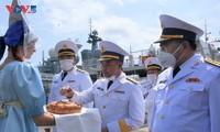 Biên đội tàu của Hải quân Việt Nam được Hạm đội Thái Bình Dương chào đón long trọng