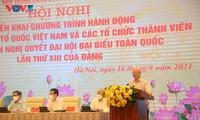 Piden al Frente de la Patria de Vietnam trabajar por la unidad nacional y los intereses del pueblo