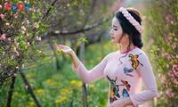 Áo dài mùa xuân