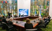 Bộ trưởng Ngoại giao Uzbekistan Abdulaziz Kamilov phát biểu tại buổi lễ. - Ảnh: PV/VOV - Moscow