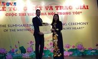 """Promueven el amor de los extranjeros hacia Hanói a través del concurso de escritura """"Hanói en mí"""""""