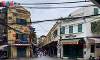 บรรยากาศย่านโบราณ 36 สายในกรุงฮานอยที่ได้รับผลกระทบจากโรคโควิด-19