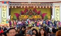 Eindruck des Gründers der vietnamesischen buddhistischen Glaubensrichtung von Truc Lam und König Tran Nhan Tong auf dem heiligen Berg Yen Tu