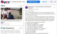 Cộng đồng người Việt tại Australia, Canada ủng hộ người dân miền Trung bị bão lũ