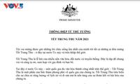 Thủ tướng Australia gửi thông điệp chúc Tết Trung thu bằng tiếng Việt