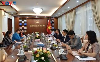 Estrechan cooperación entre el Ministerio de Educación y Formación y la UNICEF