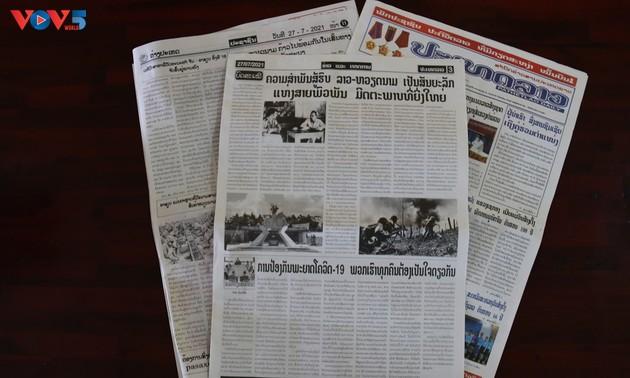 Báo chí Lào: Liên minh chiến đấu Lào - Việt Nam, biểu tượng của mối quan hệ hữu nghị vĩ đại