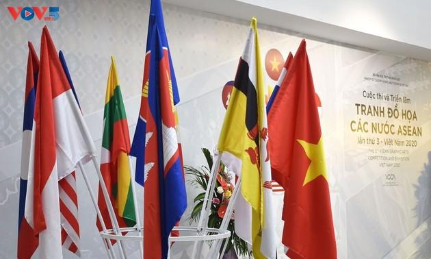 Triển lãm Tranh Đồ họa các nước ASEAN – Nơi quy tụ những tác phẩm đồ họa đặc sắc trong khu vực