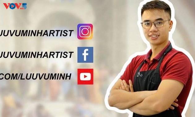 Được truyền cảm hứng làm thiện nguyện của anh bán rau, thày giáo Hà Nội quyết định dạy vẽ online miễn phí