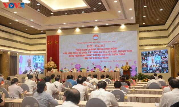 Le Front de la Patrie du Vietnam met en oeuvre la résolution du 13e congrès national du PCV