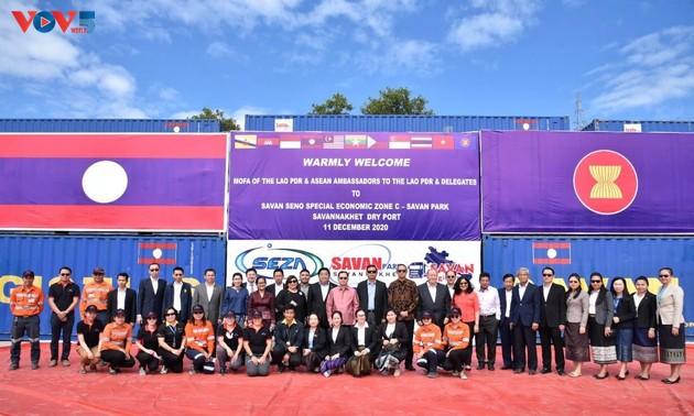 Đại sứ các nước ASEAN tìm hiểu cơ hội đầu tư tại Đặc khu kinh tế Savan-Seno,  Lào