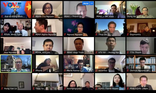 Вьетнамцы в Нью-Йорке провели встречу в режиме онлайн по случаю Нового года по лунному календарю
