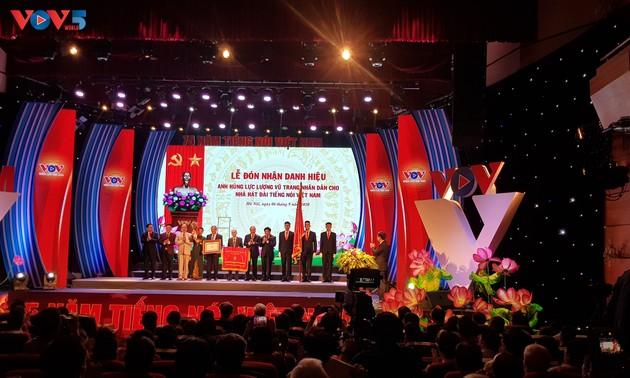 Đài Tiếng nói Việt Nam kỷ niệm 75 năm ngày thành lập, đón nhận Huân chương Lao động hạng Nhất