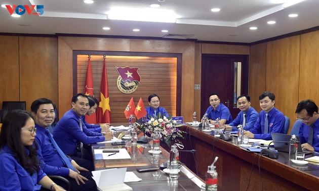 Hội đàm trực tuyến giữa Bí thư thứ nhất Trung ương Đoàn TNCS Hồ Chí Minh và Bí thư Trung ương Đoàn TNNDCM Lào