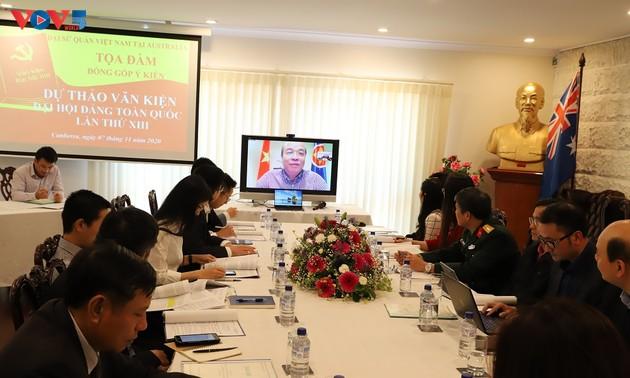 Kiều bào tại Australia góp ý kiến đối với Dự thảo văn kiện trình Đại hội Đảng toàn quốc lần thứ XIII