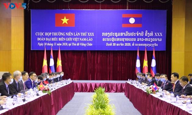 Việt Nam - Lào tiếp tục đẩy mạnh hợp tác công tác biên giới
