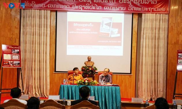 Lào ra mắt cuốn sách về Đại sứ đặc mệnh toàn quyền đầu tiên của Việt Nam tại Lào