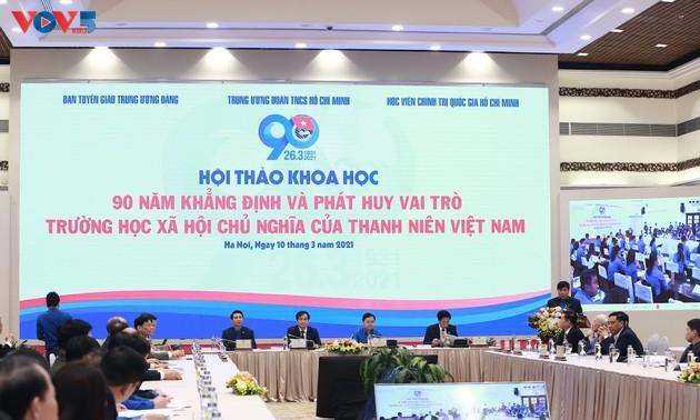 Hội thảo 90 năm trường học xã hội chủ nghĩa của thanh niên Việt Nam