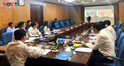 Điện đàm trao đổi chương trình hợp tác của tổ chức Đoàn thanh niên hai nước Việt- Lào - ảnh 1