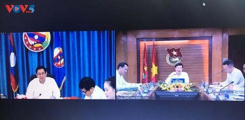 Điện đàm trao đổi chương trình hợp tác của tổ chức Đoàn thanh niên hai nước Việt- Lào - ảnh 2